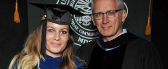 Newest CIRS Alumni - Nora Bunford shown here with Dr. Steve Evans